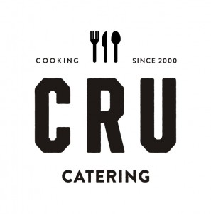 cru catering w words black